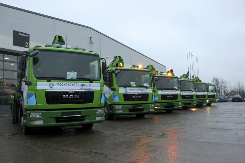 260 new MAN TGL tow trucks in Moscow